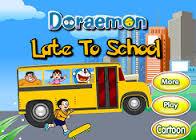 Doraemon in ritardo per la scuola